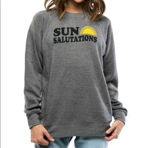 """""""Sun Salutations"""" fleece lined sweatshirt"""